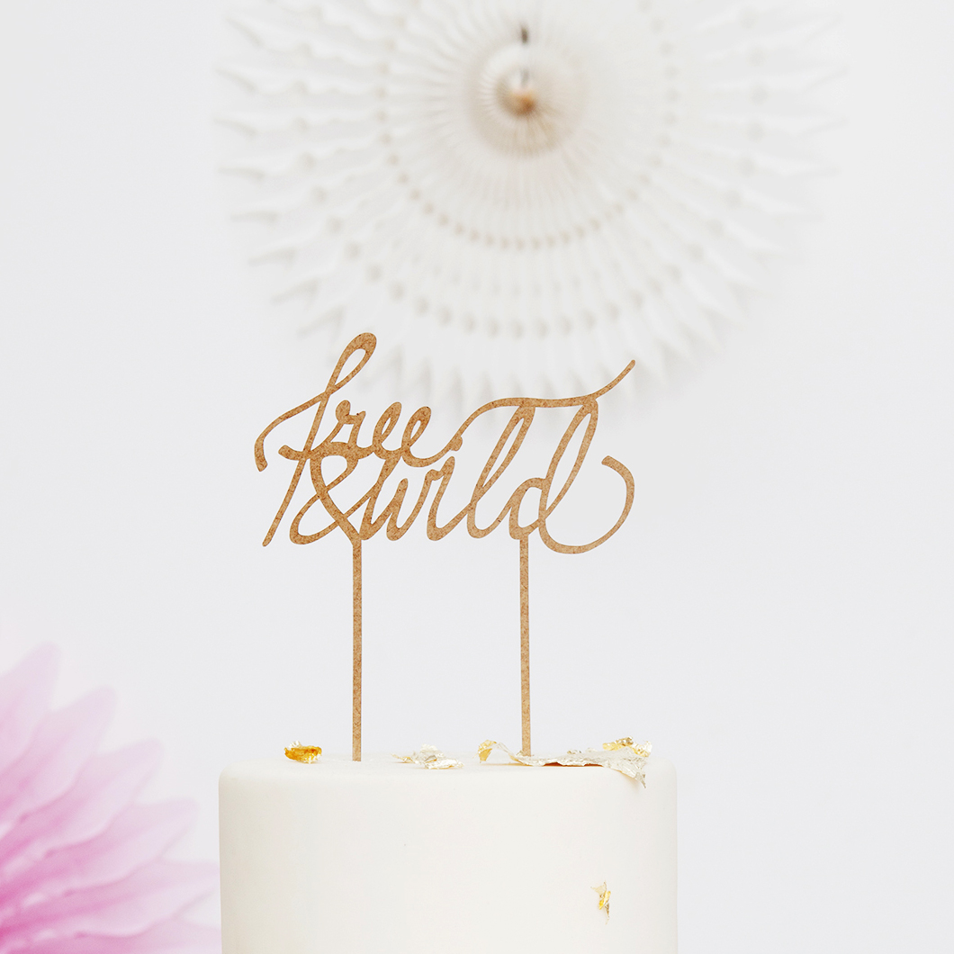 cake topper free and wild1